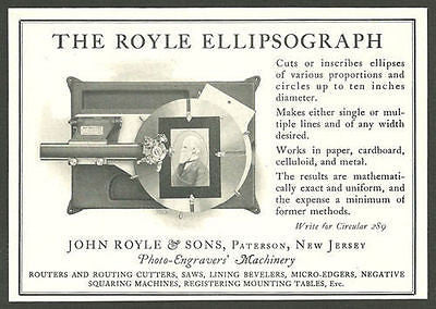 Engraver Royle Ellipsograph Engraving Machinery 1924 Ad Graphic Arts - Paperink Graphics