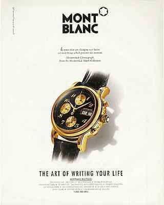 1997 Mont Blank Watch AD Meisterstuck Chronograph Advertising