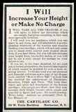 Antique Quackery Quack Medicine Cure AD Increase Your Height 1905 The Cartilage Co Rochester NY
