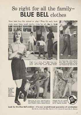 Blue Bell BERMUDA SHORTS 1957 Fashion Photo AD