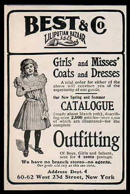 Liliputian Bazaar AD 1902 Clothes Catalogue Best & Co - Paperink Graphics