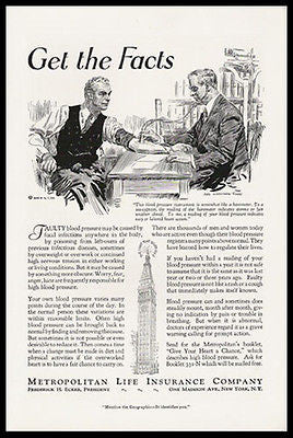 DOCTOR Blood Pressure Test 1931 James Montgomery Flagg Sgn Print Ad