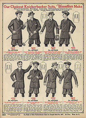 Knickers Choicest Boys Knickerbocker Suits 1914 AD Golf Croquet