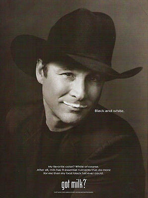 Clint Black Musician 2002 got milk? Photo Illustration Ad Milk Industry Campaign
