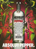 Absolut Pepper 1989 Red Green Peppers ABSOLUT Vodka Distillery AD - Paperink Graphics