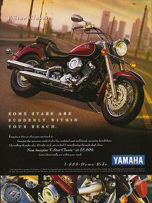 Yamaha V-Star Classic Motorcycle  Photo Illustration 1998 AD