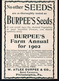 Burpee's Seeds 1902 AD Seeds Farm Annual Advertising Vegetables Flowers Garden Farm - Paperink Graphics