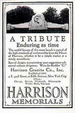 Stone Tribute Memorials Harrison Granite 1929 Photo AD