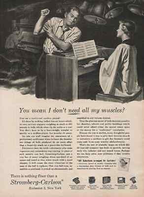 Bells Carillon Electronic Keyboard Player1954 Stromberg Carlson Ad - Paperink Graphics