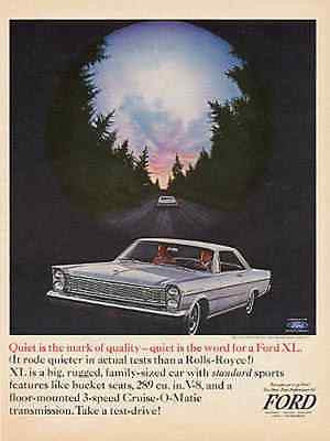 Ford Galaxie 500/XL Hardtop Photo 1965 AD - Paperink Graphics