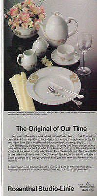 Rosenthal China 1986 Dinnerware Ad Bjoorn Winbald Art