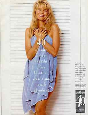 Christie Brinkley Real Photo Royal Velvet Towel 1994 AD - Paperink Graphics