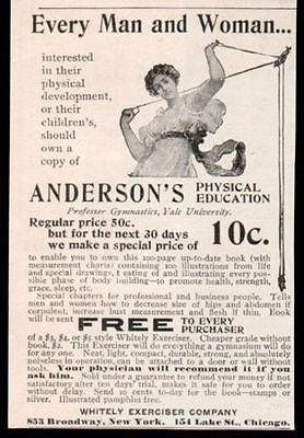 1889 Women Exercise AD Whitely Exerciser Co. NY Chicago - Paperink Graphics