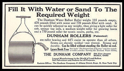 Dunham Rollers 1911 AD Water Ballast Roller Sand or Water Lawn Garden Tool Paths - Paperink Graphics