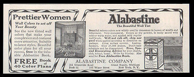 Alabastine 1914 Ad Beautiful Wall Tint for Pretty Women - Paperink Graphics