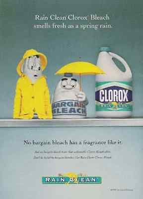 Yellow Rain Slicker vs Yellow Umbrella 1998 AD Clorox Rain Clean