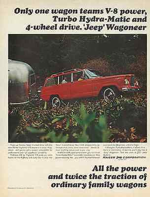 Kaiser Jeep Wagoneer Airstream Trailer Photo 1965 AD