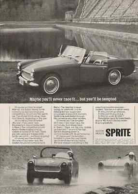 Austin Healey Sprite Sports Convertible 1965 Twin Carbs 95 mph 4 Speed Shift