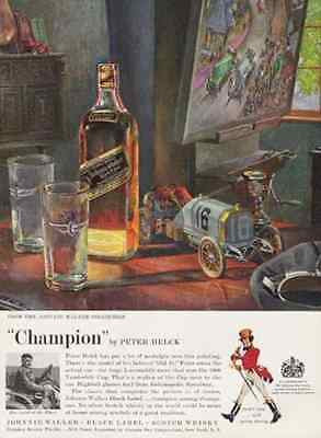 Champion Peter Helck Art Print 1959 AD Johnnie Walker Black Label - Paperink Graphics