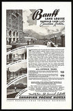 Banff Lake Louise Emerald Lake 1936 Rail Hotel Package AD Canadian Pacific Hotel - Paperink Graphics