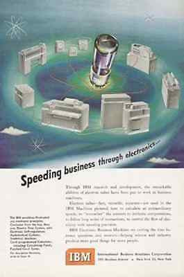 IBM Machines Illustrated 1950 AD Electron Tubes Business Machines - Paperink Graphics