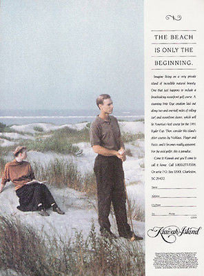 Golf Kiawah Island SC Real Estate Golf Course 1991 Ad Travel