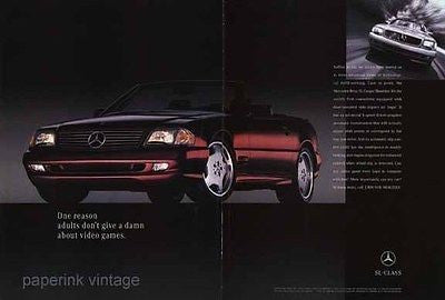 1996 Mercedes Ad Mercedes-Benz L Coupe Roadster European Automobile Advert - Paperink Graphics