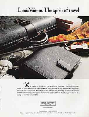 Louis Vuitton 1993 AD The Spirit of Travel India Theme Epi Accessories - Paperink Graphics