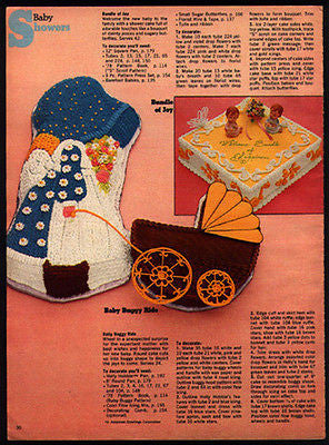 HOLLY HOBBY Decorate Baby Buggy Ride 1978 Ad Cake Decoration Directions
