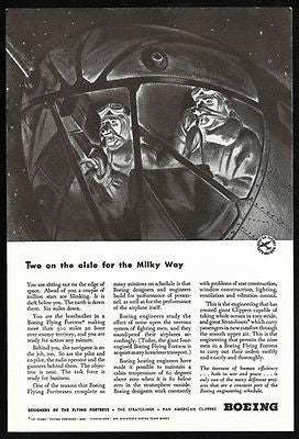 Boeing Bombardiers WWII Flying Fortress Aviation 1942 Print Ad