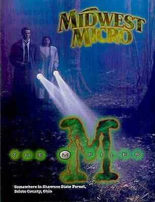 1995 Midwest Micro Computers Ad X-Files Spooky Forest Graphic Arts TV Show Spoof - Paperink Graphics