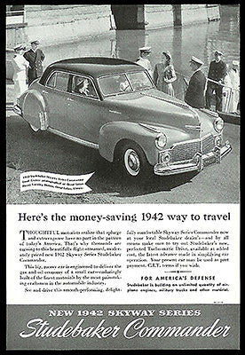 Skyway Series Studebaker Commander Land Series 1942 Photo Promo Ad