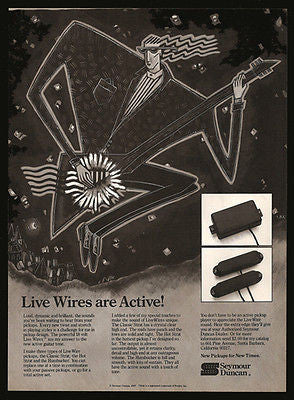 Live Wires are Active! 1987 Strat Pickups Seymour Duncan Guitar Graphic Arts - Paperink Graphics