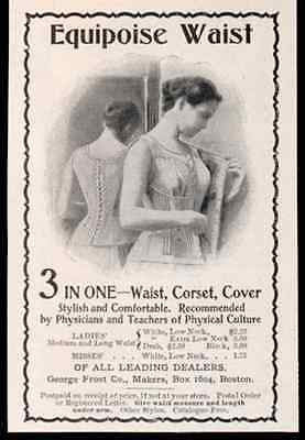 Corset Cover Waist Equipoise Lady Model 1898 Photo AD - Paperink Graphics