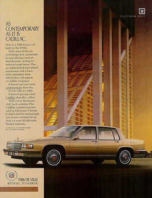 1986 Cadillac De Ville Luxury Car Automobile AD