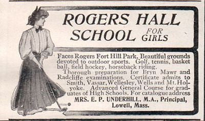 Golf Outdoor Sports Rogers Hall School for Girls Lowell MA 1907 AD