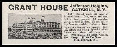 Jefferson Heights 1915 Catskills Grant House NY Hotel No Invalids Photo AD