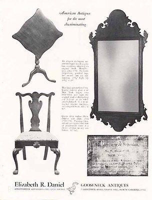 Antique Furniture 1969 Dealer Ad Muhlenberg Schmidt Label Mirror - Paperink Graphics