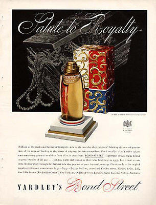 Yardley Perfume AD Bond Street 1937 Art Deco Packaging Graphics Bottle Display
