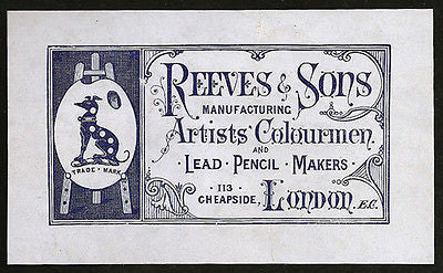 Antique 1880s Pencil Manufacturing AD Reeves & Sons Lead Pencil Makers Advert