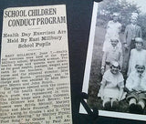 1930's Photo School Kings Queens Health Day Milbury MA Album Page