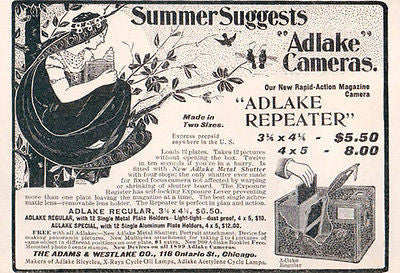 Camera Adlake Repeater Camera Diagram AD Exotic Tree Woman 1899 - Paperink Graphics
