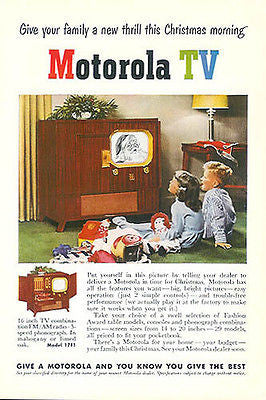 Raggedy Ann Jack in the Box 1950 Motorola TV Santa Doll Toys Ad