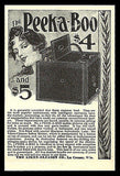 Antique Camera AD 1898 Peek-a-Boo Model Photography Equipment Ad - Paperink Graphics