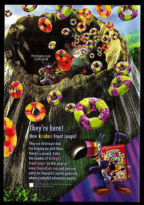 Froot Loops Rainbow Volcano Animation Art Graphics Cereal Ad 2003 - Paperink Graphics
