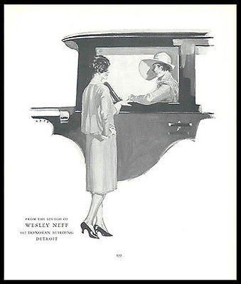 Summer Flapper Fashion Neff 1926 Artist Promo Ad