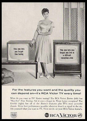 RCA Victor Ad Barton Lindale Television TV 1959 Photo Illustration AD