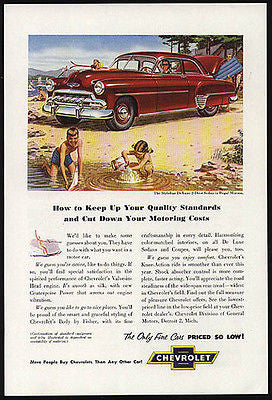 Chevrolet Styleline DeLuxe 2D Sedan 1952 Miller Art AD - Paperink Graphics