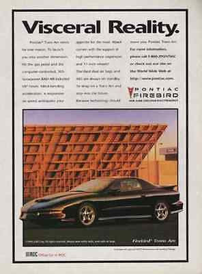 Pontiac Firebird Trans Am 1996 AD Classic Black 305 hp Automobile Advertising - Paperink Graphics