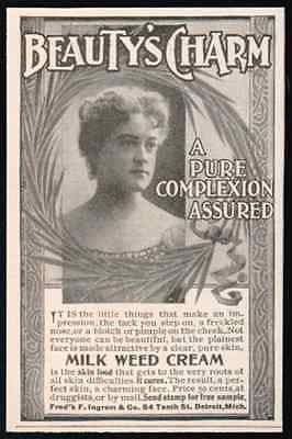 Milk Weed Cream Beauty's Charm Cosmetic Photo 1898 AD